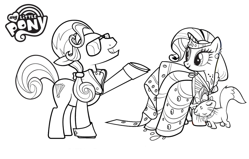 My Little Pony Anime Coloring Pages : Anime