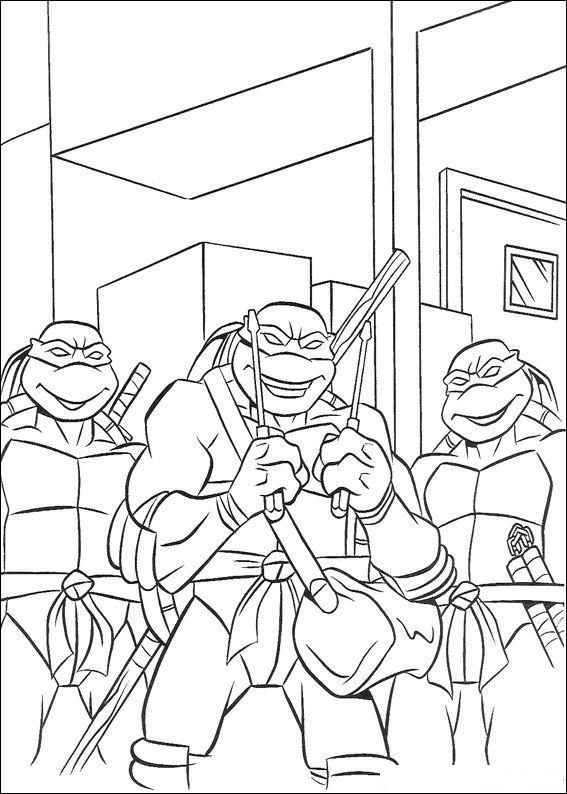 Kleurplaten Van De Turtles.Ninja Turtles Kleurplaat Tv Series Kleurplaat Animaatjes Nl
