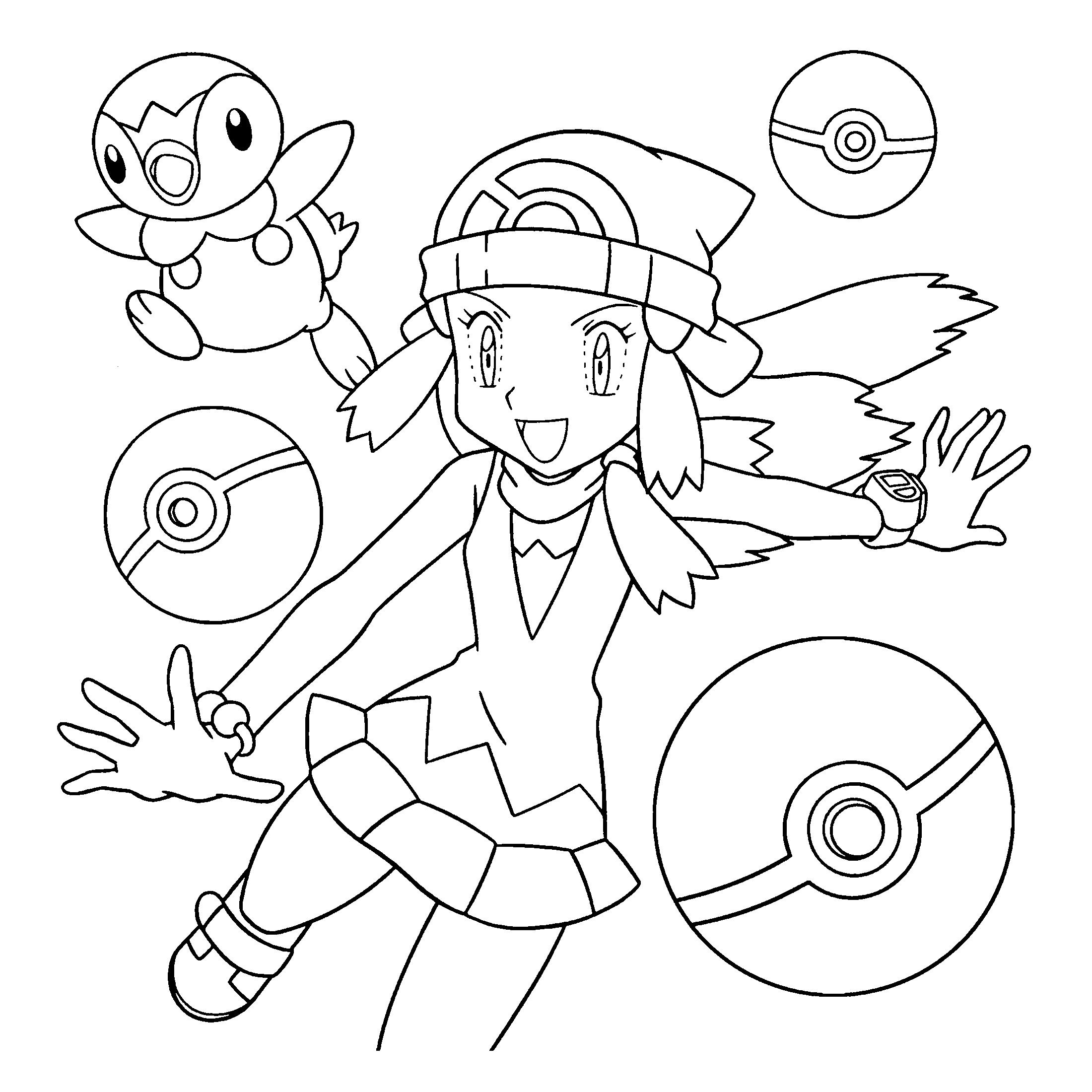 Kleurplaten Tv series kleurplaten Pokemon diamond pearl
