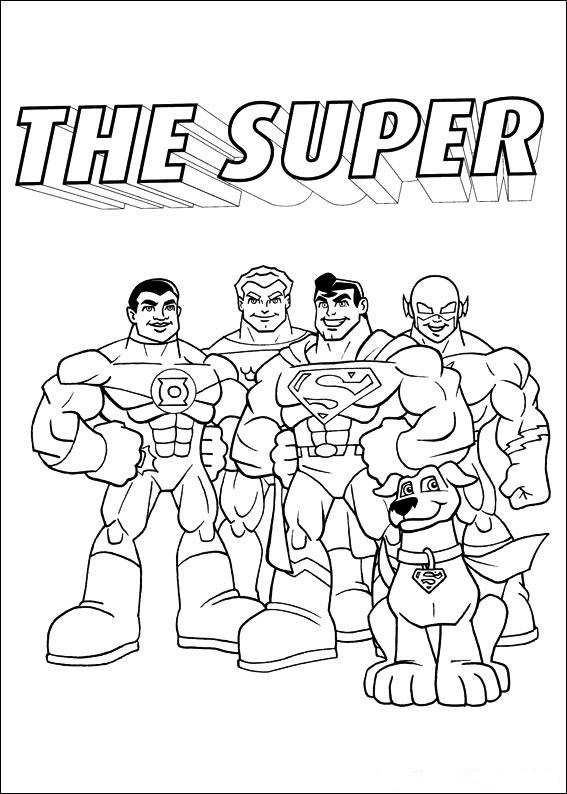 Kleurplaten Tv series kleurplaten Superfriends