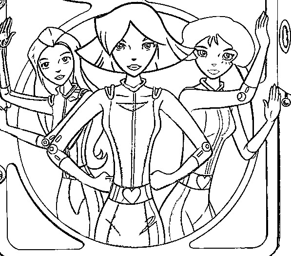 Kleurplaten totally spies Tv series kleurplaten