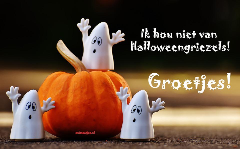 Halloween Poppetjes Facebook plaatjes pompoen ik hou niet van halloween griezels
