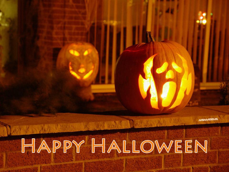 Halloween Facebook plaatjes pompoen happy halloween