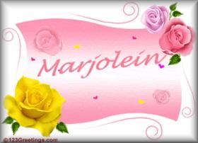 Naamanimaties Marjolein