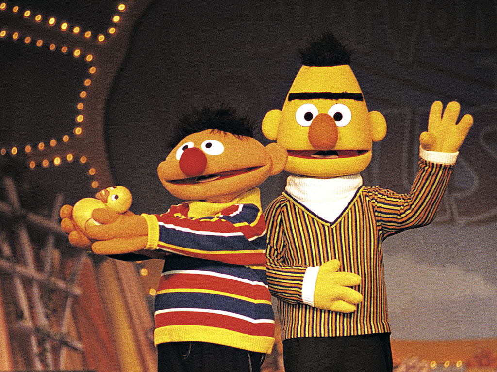 Plaatjes Bert en ernie