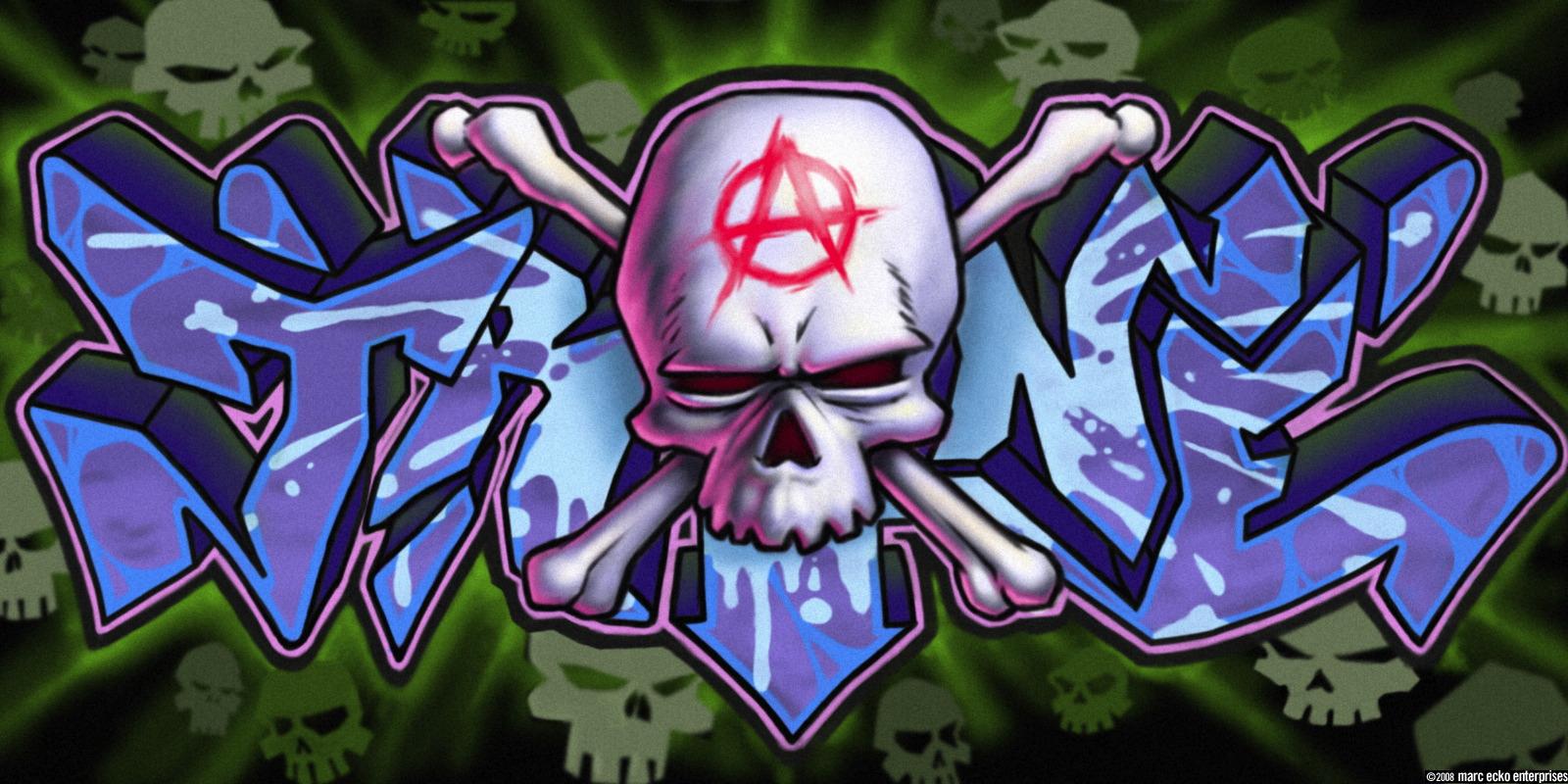 Graffiti Plaatjes en Bewegende Animatie Plaatjes. Graffiti Krabbels