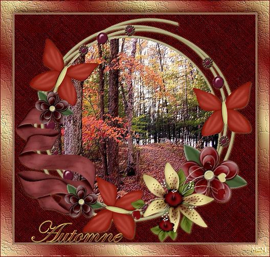 herfst donkerrood goudkleur