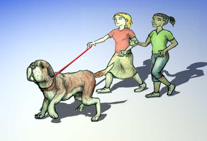 Plaatjes Hond uitlaten