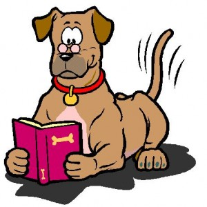 hond leest
