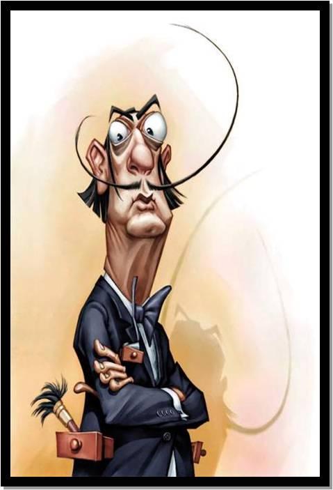 Salvador dali karikatuur