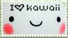 Plaatjes Kawaii postzegels