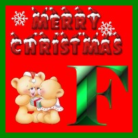 Plaatjes Kerst alfabet