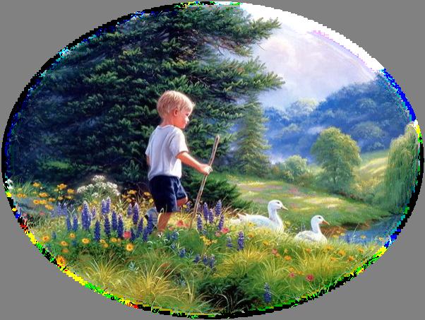 jongen met eenden
