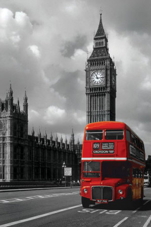 rode bus en de big ben