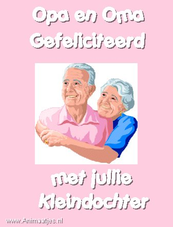 Opa en Oma gefeliciteerd