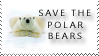 Plaatjes Postzegels Save The Polar Bears Postzegel
