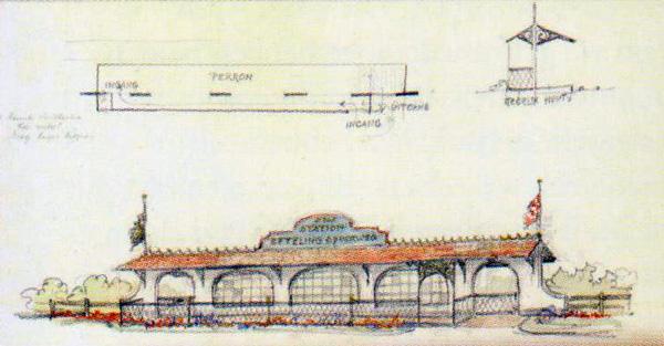 efteling bouwtekening station west
