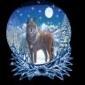 sneeuwbal wolf globe