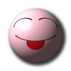 Smileys 3d Smileys en emoticons Roze Smiley Steekt Tong Uit