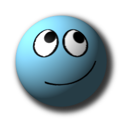 Smileys 3d Smileys en emoticons Blauwe Smiley Blij
