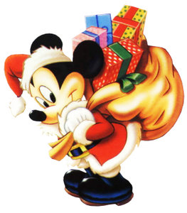 Disney plaatjes Mickey en minnie mouse Mickey Mouse Kerstman
