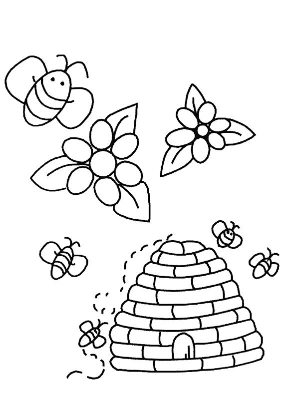 Bijen Kleurplaten » Animaatjes.nl