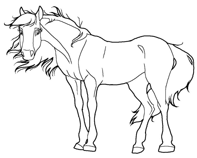 paarden kleurplaten » animaatjes.nl
