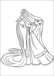 Kleurplaten Rapunzel.Rapunzel Kleurplaten Animaatjes Nl