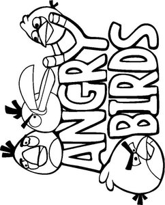 Kleurplaten Van Angry Birds.Angry Birds Kleurplaten Animaatjes Nl