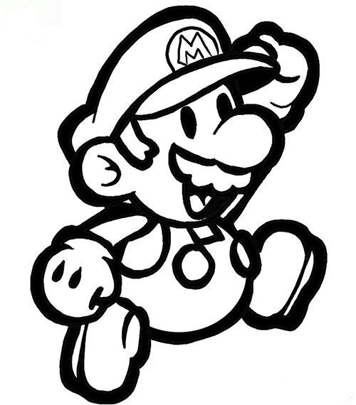 Kleurplaten Baby Mario.Mario Kleurplaten Animaatjes Nl