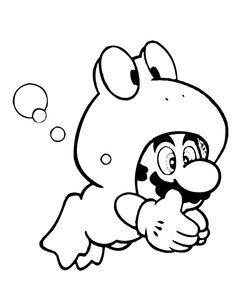 Kleurplaten Mario Kat.Mario Kleurplaten Animaatjes Nl