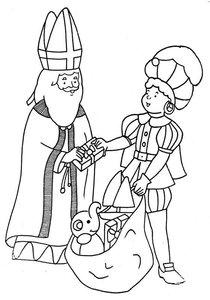 Sinterklaas En Zwarte Piet Kleurplaten 187 Animaatjes Nl