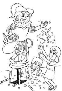 sinterklaas snoepgoed kleurplaten 187 animaatjes nl