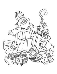 Kleurplaten Sinterklaas Cadeautjes.Sinterklaas Speelgoed Kleurplaten Animaatjes Nl
