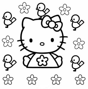 Hello Kitty Kleurplaat. Hello kitty Kleurplaten Tv series kleurplaten