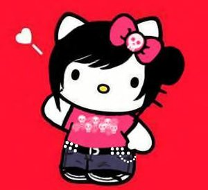 Plaatjes Hello kitty emo