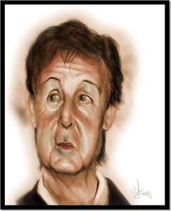 Plaatjes Karikaturen Paul Mccartney Karikatuur