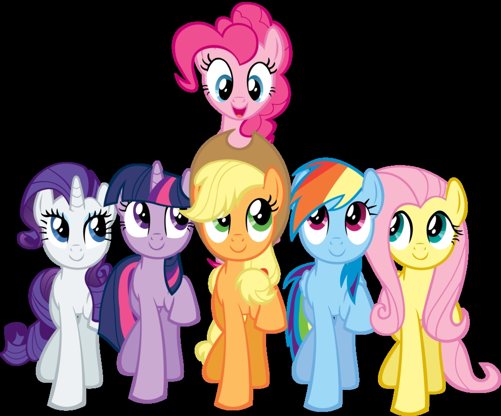 Plaatjes My little pony Pinkie Pie Rarity Twilight Sparkle Applejack Rainbow Dash En Fluttershy