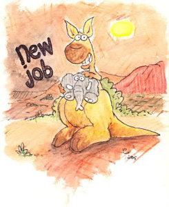 animatie gefeliciteerd nieuwe baan