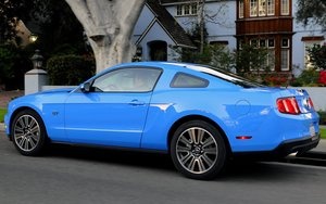 Auto Wallpapers Ford mustang Blauwe Ford Mustang