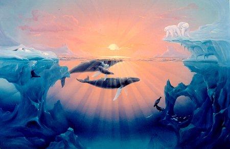 Vissen plaatje walvis - Smeedijzeren prieel leunde tegen ...