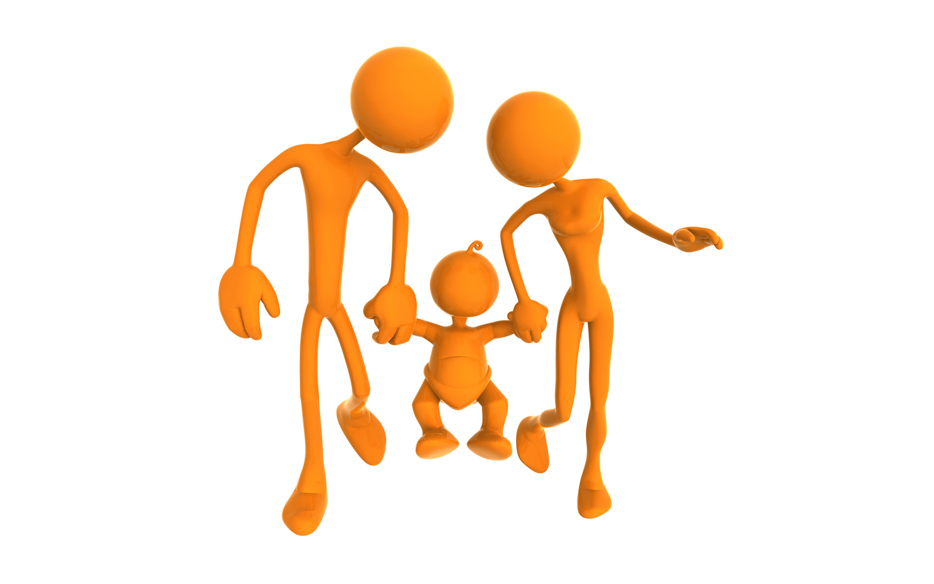 Wallpapers Oranje poppetjes 3d
